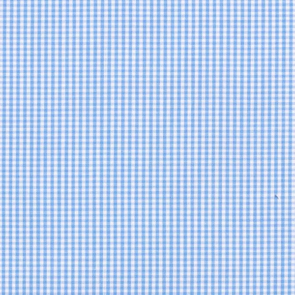 Tissu pour chemise Carreaux Vichy – bleu clair