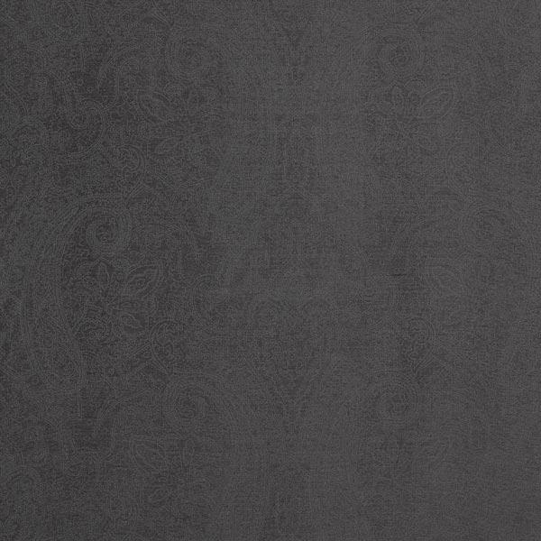 Futterstoff Viskose florale Ornamente – schwarz