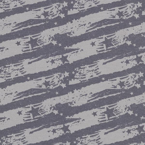 Tissu sweatshirt gratté Étoiles – gris