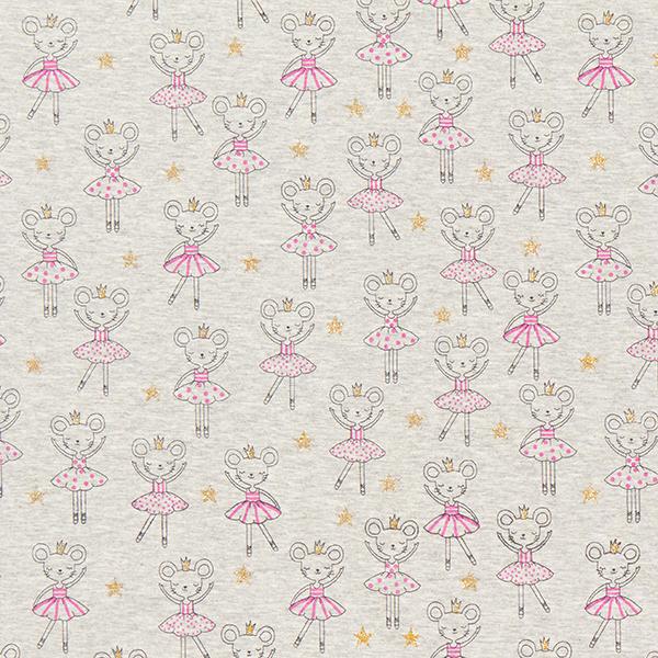 Alpenfleece  Mäuseprinzessin – grau/rosa
