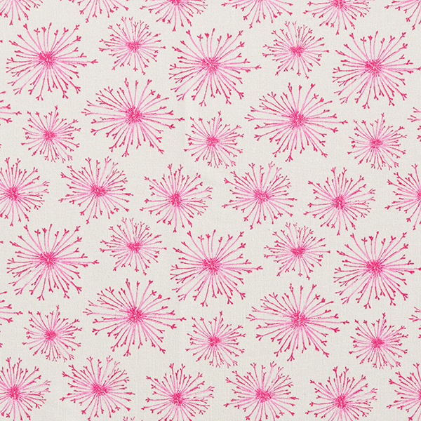 French Terry Pusteblume – hellgrau/pink