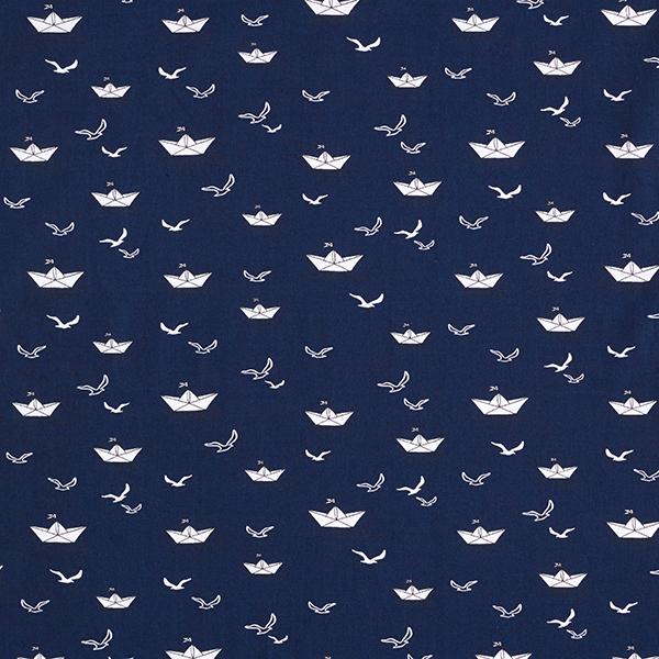 Baumwollpopeline Papierschiffchen – marineblau