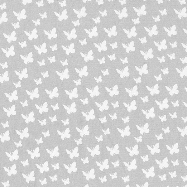 Popeline coton Papillons – argent