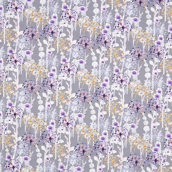 Baumwolljersey Pusteblumen Batiklook – dunkelgrau