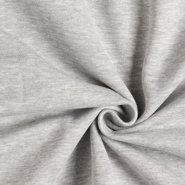 Sweatshirt Melange Hell – silbergrau