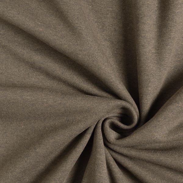 Bündchen Melange Dunkel – schwarzbraun