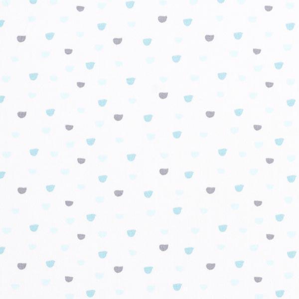 Jersey coton Arcs – blanc/vert menthe