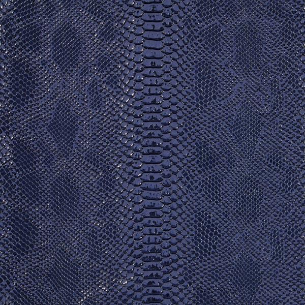 Reptilien Lederimitat – marineblau