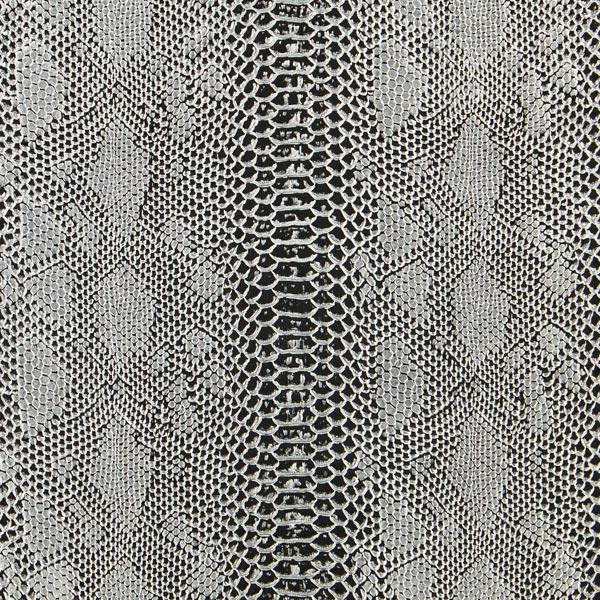 Reptilien Lederimitat – grau/silber