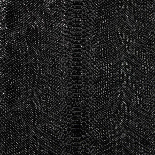 Similicuir reptile – noir