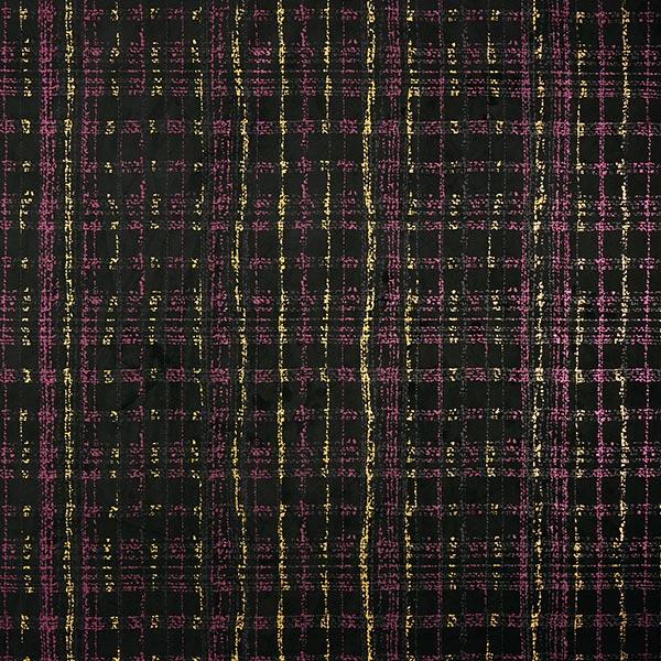 Scuba Impression sur pellicule structure de carreaux – noir/framboise