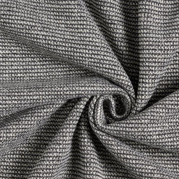 Jacquard maille Double face Felicia – gris clair/noir
