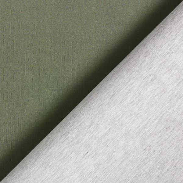 Jersey scuba double face – olive/gris