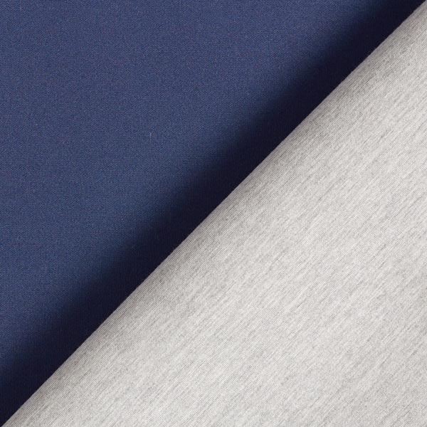 Jersey scuba double face – bleu marine/gris