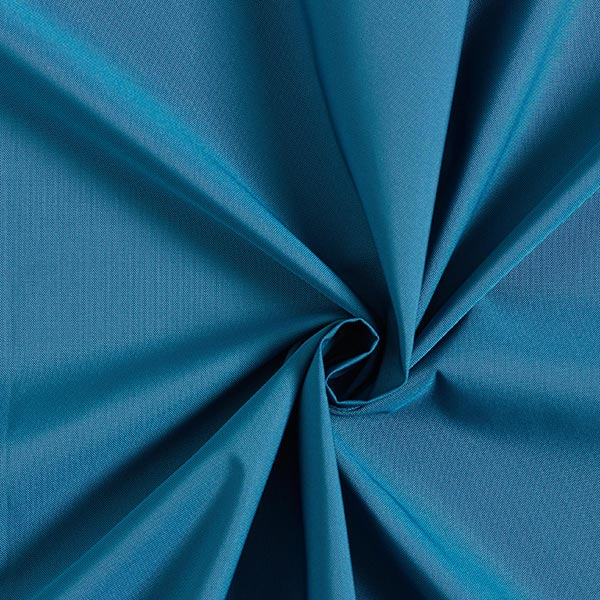 Regenjackenstoff wasserabweisend uni – türkisblau