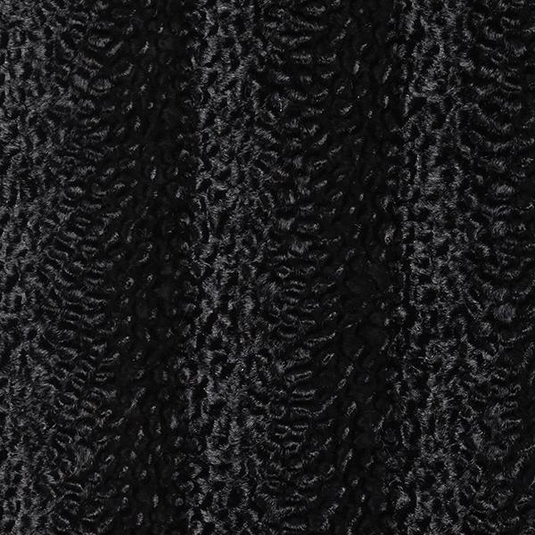 Kunstfell Krimmer-Optik im Schlangenlook – schwarz