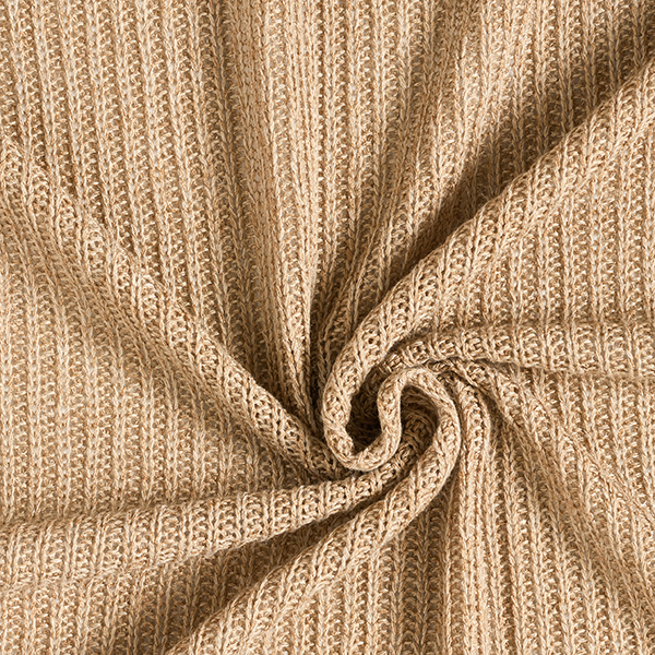 Maille côtelée Comme-tricoté-soi-même – beige