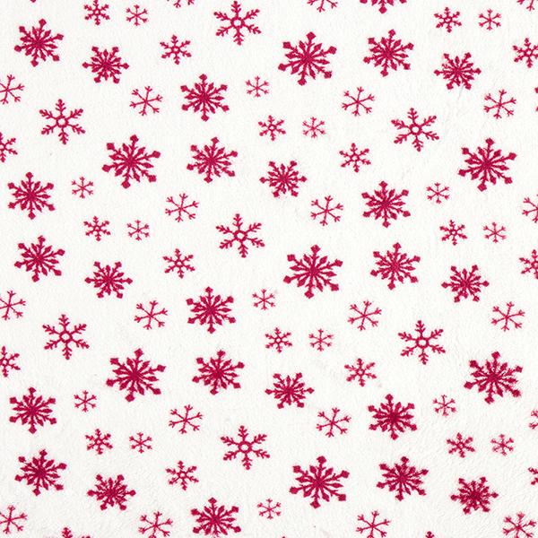 Polaire douillet Flocons de neige – blanc