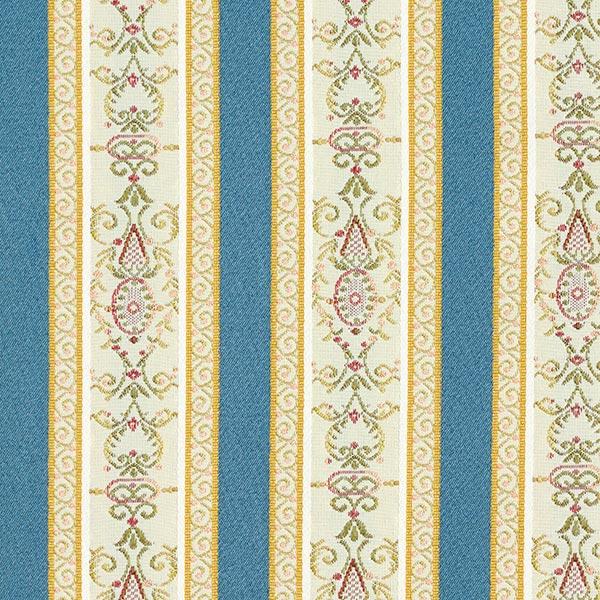 Tissu d'ameublement jacquard Rayures Biedermeier – crème/bleu