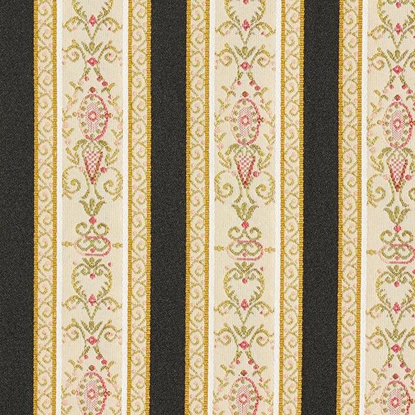 Möbelstoff Jacquard Biedermeier Streifen – creme/schwarz