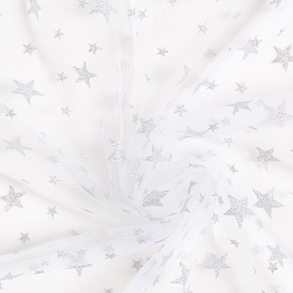 Tüll Glitzersterne – silber