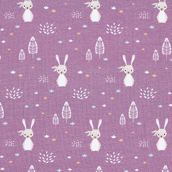 Baumwolljersey Boho Hase | Contest Collection – violett