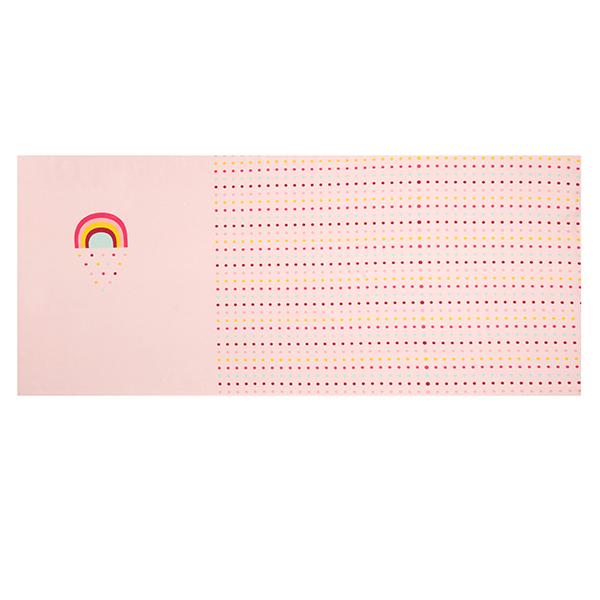 Jersey coton Panel Arc-en-ciel et Confettis | Petit Citron – rose