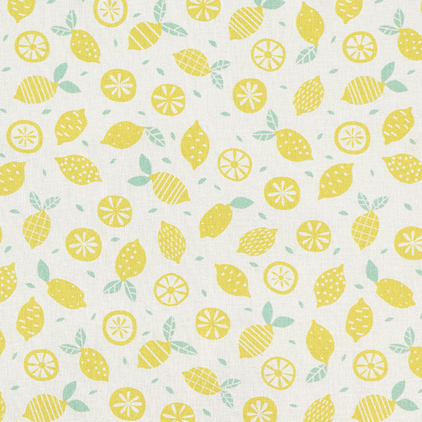 Baumwollpopeline Zitronen | PETIT CITRON – hellgelb