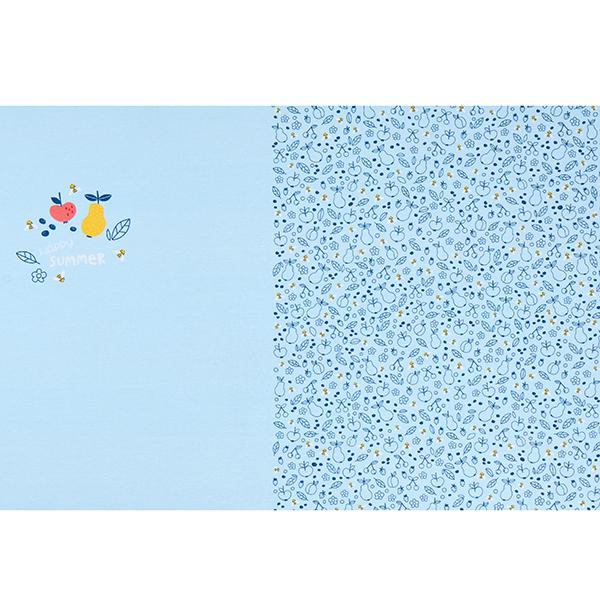 Baumwolljersey Panel Happy Summer | PETIT CITRON – babyblau