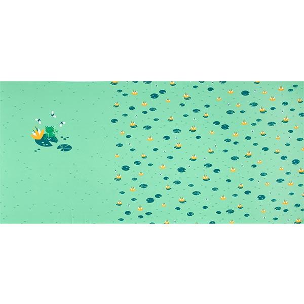 Jersey coton Panel Grenouille avec nénuphar | PETIT CITRON – roseau