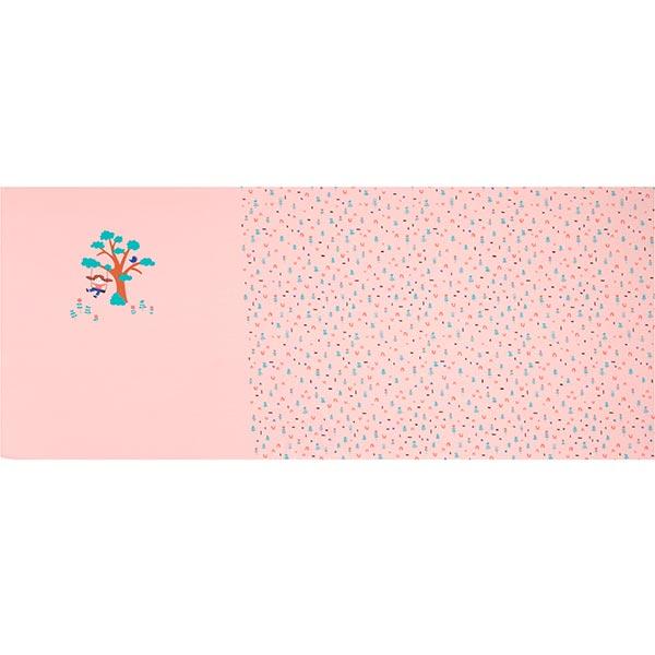 Jersey coton Panel Enfant et balançoire | PETIT CITRON – rose clair