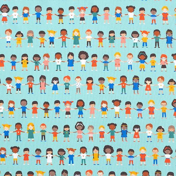 Popeline Kinder der Welt | PETIT CITRON – hellblau