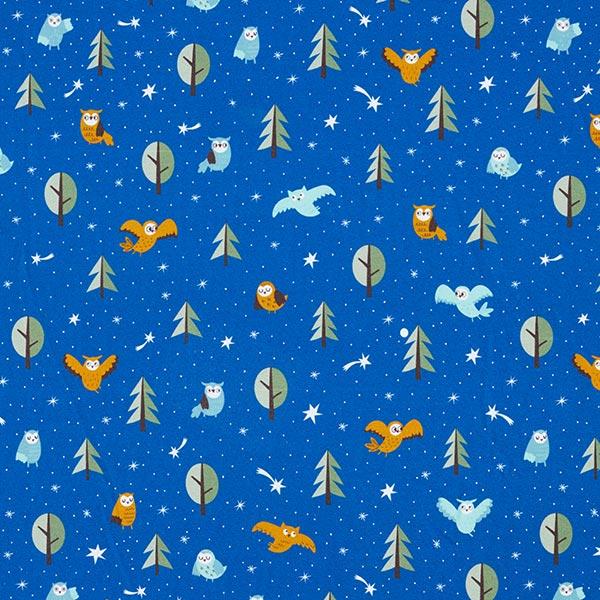 Sweatshirt gratté Eulenwald | PETIT CITRON – bleu roi/blanc