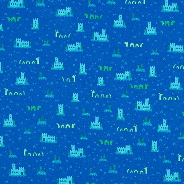 Jersey coton Nessi | PETIT CITRON – bleu roi/vert clair
