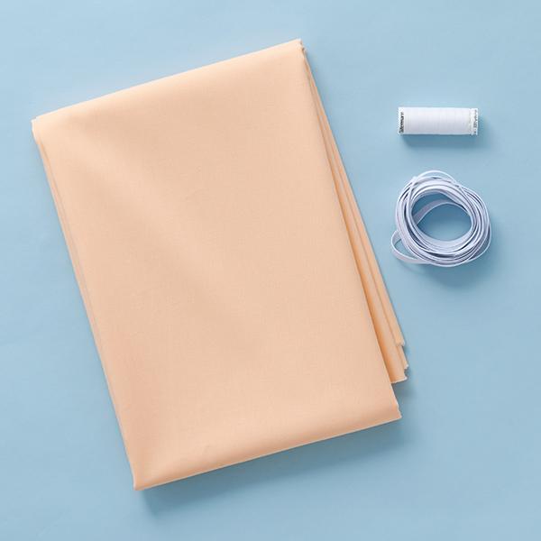 Masques Kit couture Tissu en coton Uni [1-6 Pièces] – abricot