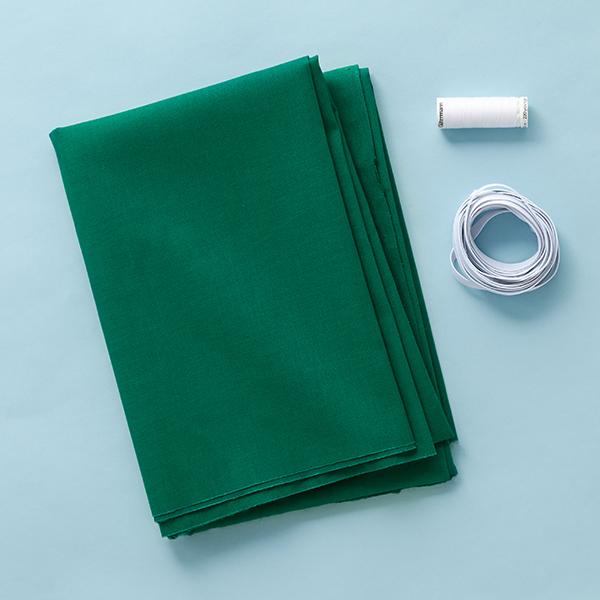 Mundschutz Nähset Baumwollstoff [1-6 Stück] – dunkelgrün