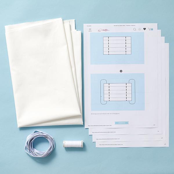 Masques Kit couture Sergé coton [1-6 Pièces] – blanc