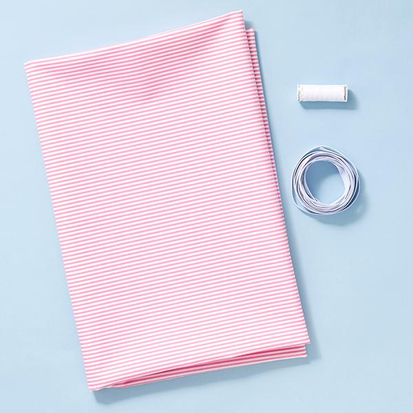 Masques kit couture Tissu en coton rayures [1-3 Pièces] – rouge