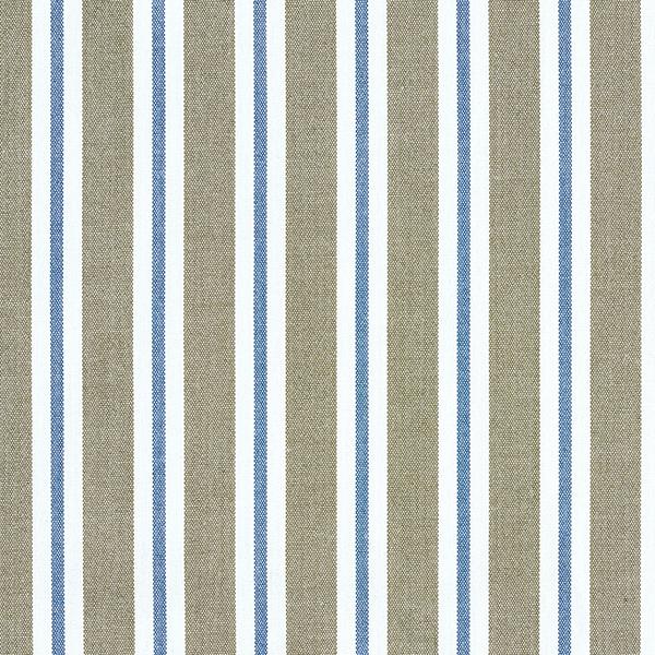 Tissu pour chemisier Stretch Rayures verticales – olive/bleu jean
