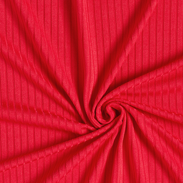 Jersey côtelé Uni – carmin