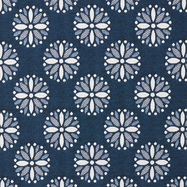 Tissu de décoration Jacquard Mandala – bleu