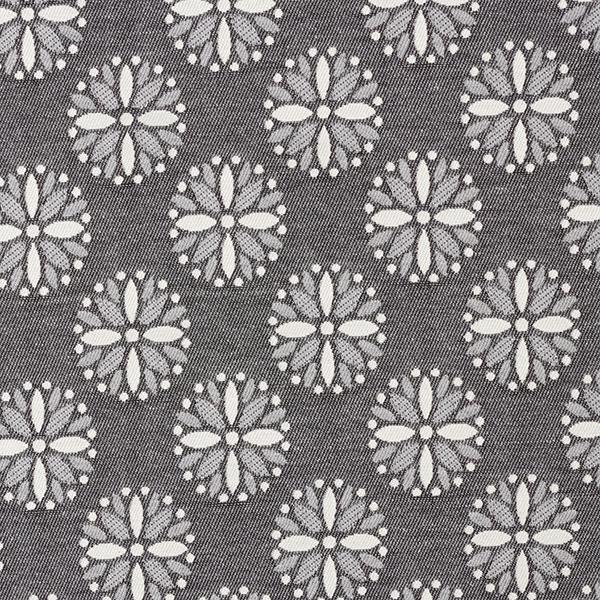 Tissu de décoration Jacquard Mandala – gris