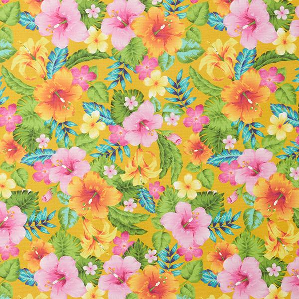 Tissus de décoration Impression numérique Tropical – moutarde