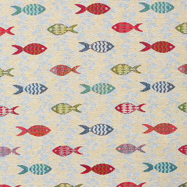 Tissu de décoration Gobelin Petits poissons – nature