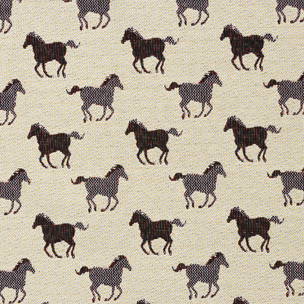 Dekostoff Gobelin gallopierende Pferde – natur