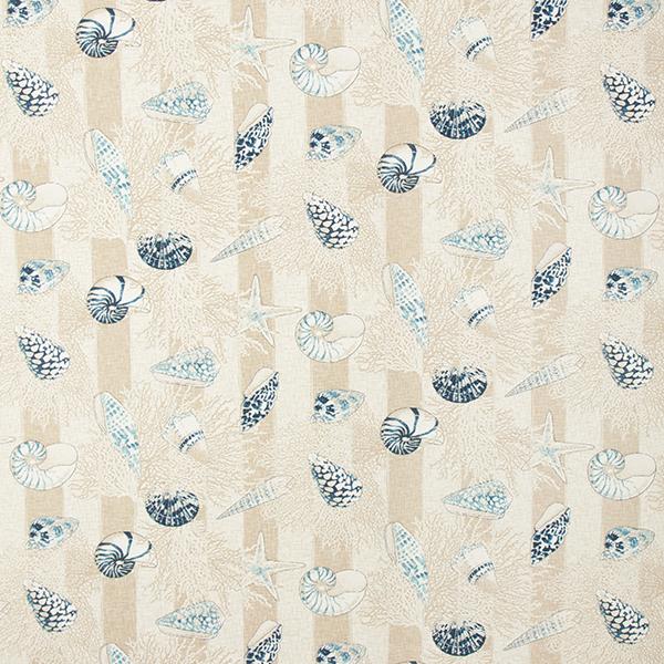 Tissu de décoration CanvasCoquillages – bleu