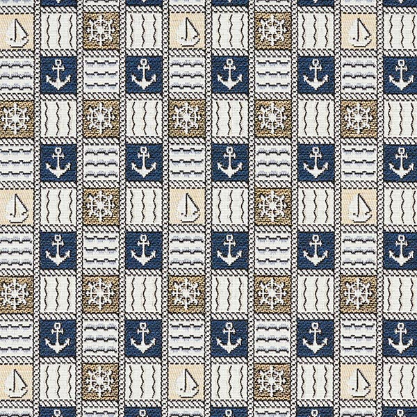 Tissu de décoration gobelin Timon – bleu/écru