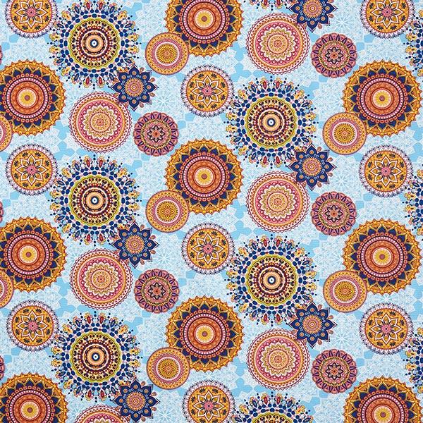 Tissu de décoration Canvas Mandala – bleu clair