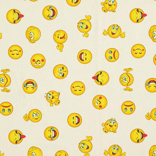 Tissu de décoration Semi-panama Emoji – beige