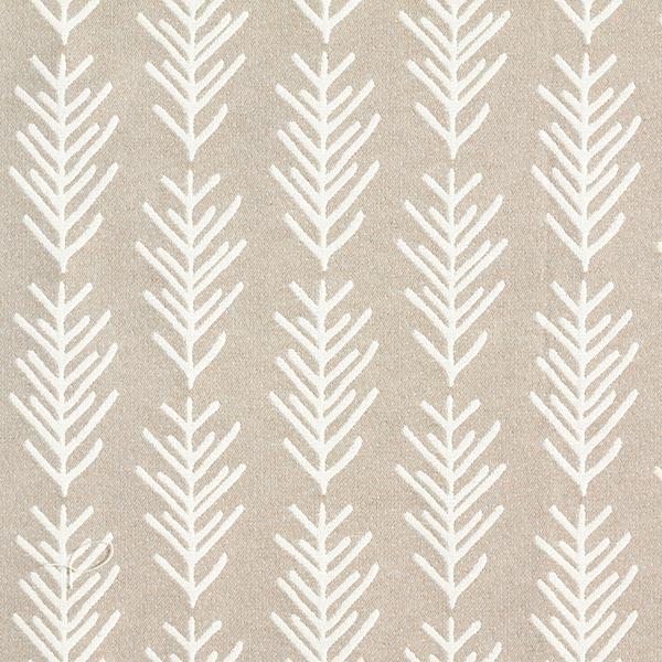 Tissu de décoration Jacquard Branche de sapin – beige/écru